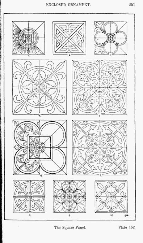 Средневековое искусство и готический орнамент Средневековое искусство и готический орнамент #101
