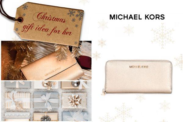 Il Natale si avvicina, non farti cogliere impreparato. Dai un'occhiata alla nostra idea regalo di oggi: portafoglio Michael Kors in pelle soffiano oro, disponibile nel nostro online shop.