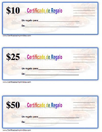 certificado de regalo para imprimir