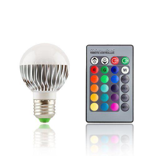 Lovely E LED Farbwechsellampe klein RGB multicolor mit Fernbedienung W Watt dimmbar