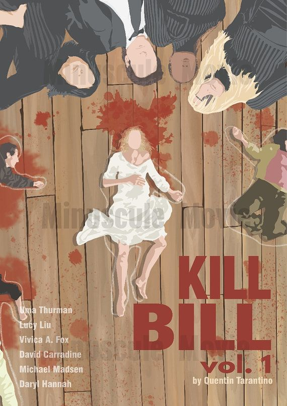 Kill Bill vol. 1 Movie Print Poster Quentin by MinusculeMotion