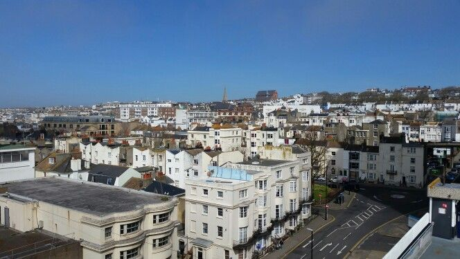 Brighton from the 17th floor of a carpark.