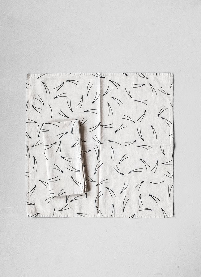 VOLTA concept store – contemporary, minimalist interior design and accessories, arts and crafts – Linen Napkins Barr black Fine Little Day, All, Gift Ideas, New Arrivals, Tabletop, Textile