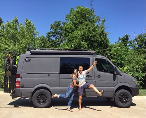 The stoke is high with Nick and Micah and their badass Sportsmobile Sprinter 4x4! The custom paint job came out insane!!! @advanturing #sportsmobile #vanlife