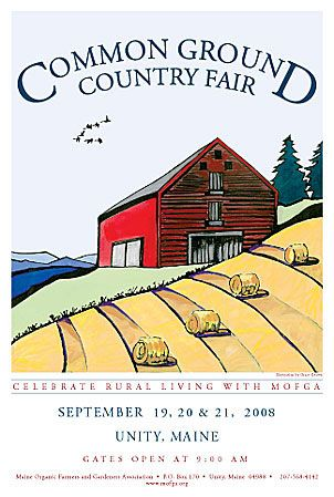 The Common Ground Country Fair - a new poster featuring original art is eagerly awaited every year.