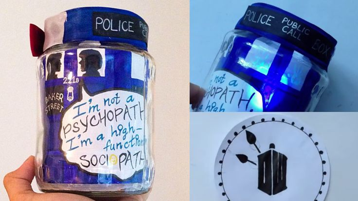 DIY WHOLOCK JAR using UV Light | Doctor Who | Sherlock :)