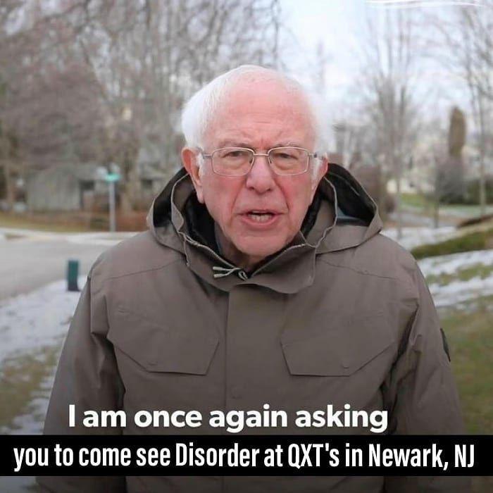 Disordǝr Joy Division Tribute On Instagram Disordǝr Saturday 3 14 Qxtsnightclub Newark Nj Check Our Fb Page For More Details Memes Fb Memes Funny Memes