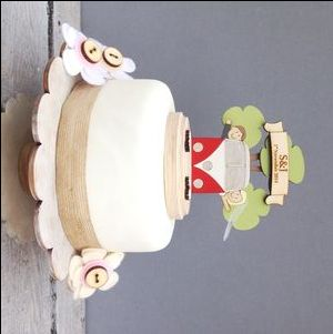 Personalised Camper Van Wedding Cake Topper - cake toppers & decorations