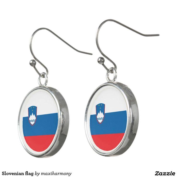 Slovenian flag earrings