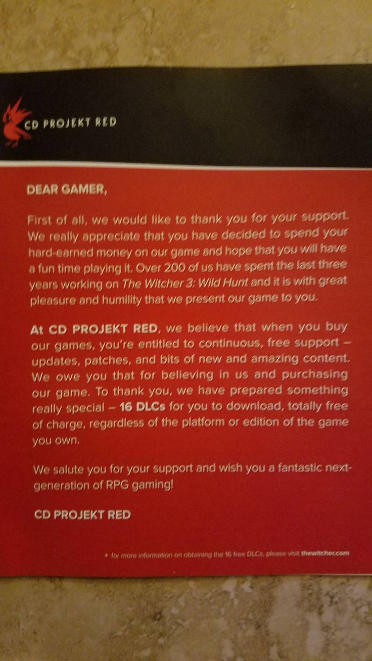 Opened my game case for the first time in over a year and was reminded why CD Projekt Red is so amazing #TheWitcher3 #PS4 #WILDHUNT #PS4share #games #gaming #TheWitcher #TheWitcher3WildHunt
