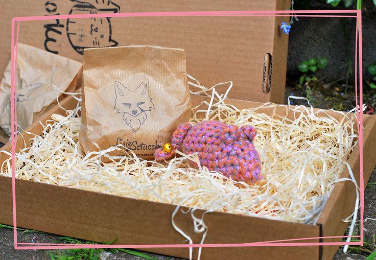 Myszka od Lisie Sztuczki z majowego Kota w worku :) #foxytricks #lisiesztuczki #myszka #kot #dlakota #handmade