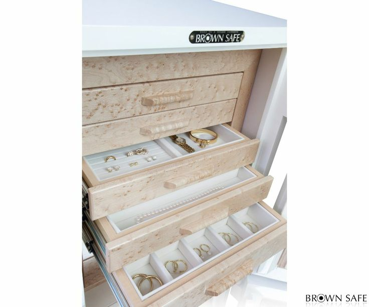 organize your watches necklaces rings and bracelets secure personal items in the fireproof closet safe customize the jewelry trays to fit your needs