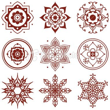 Mehndi Mini Mandalas Royalty Free Stock Vector Art Illustration