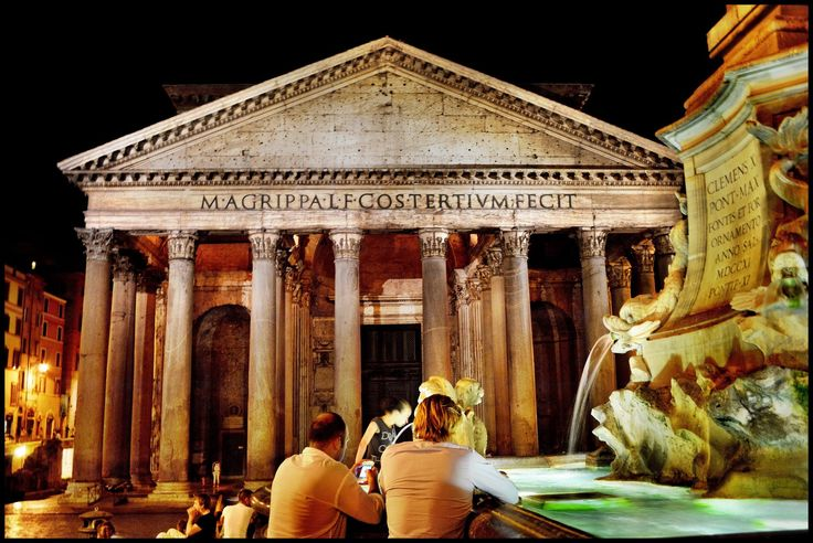 The charm of Rome at night