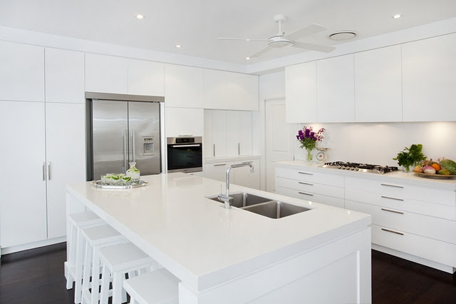 white kitchen .
