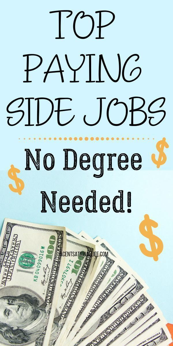 Flexible Side Jobs That Pay The Most Money. No degree needed! #sidehustle #sidej… – Side Hustle Ideas