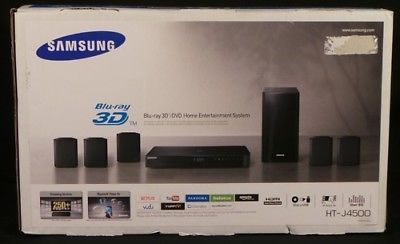 Home Theater Systems: Mint Samsung Ht-J4500 5.1 Channel 500W 3D Blu-Ray Home Theater System -> BUY IT NOW ONLY: $149.95 on eBay!