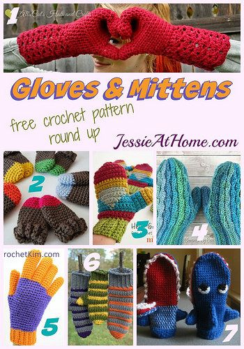 Gloves and Mittens free #crochet pattern round up from @jessie_athome: