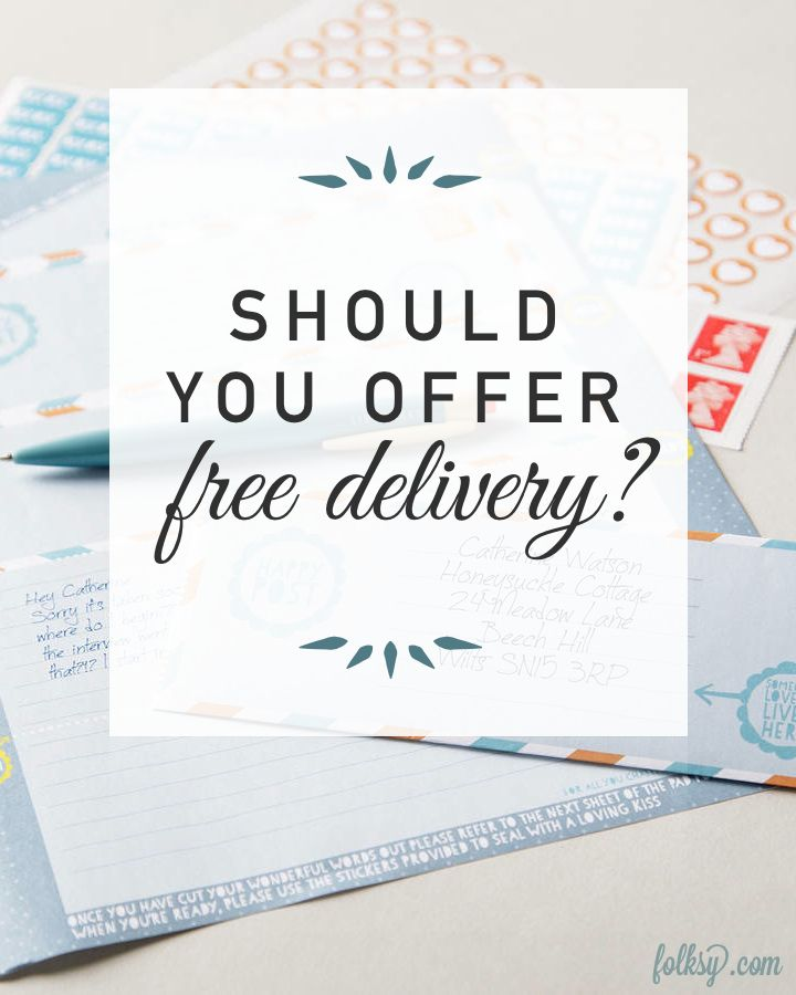 What you need to know about free delivery - and why it matters when you sell your handmade designs online.