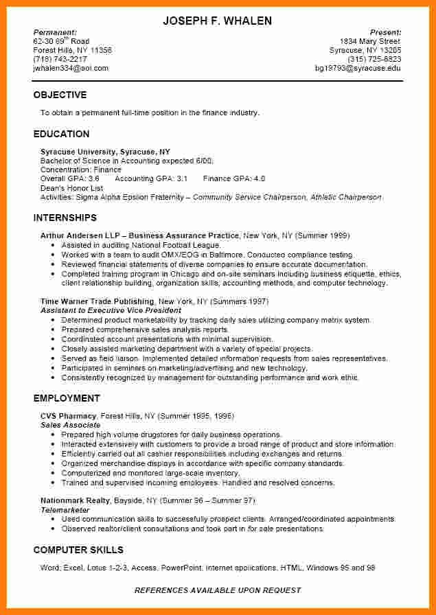 Cool Cv Template College Student Gallery