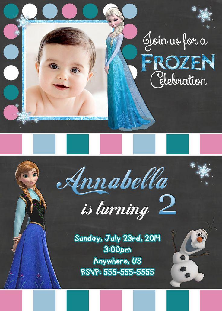 72 best Disney Frozen Movie Birthday Invitations images on ...