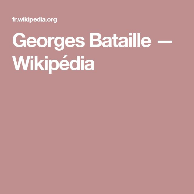 Georges Bataille — Wikipédia