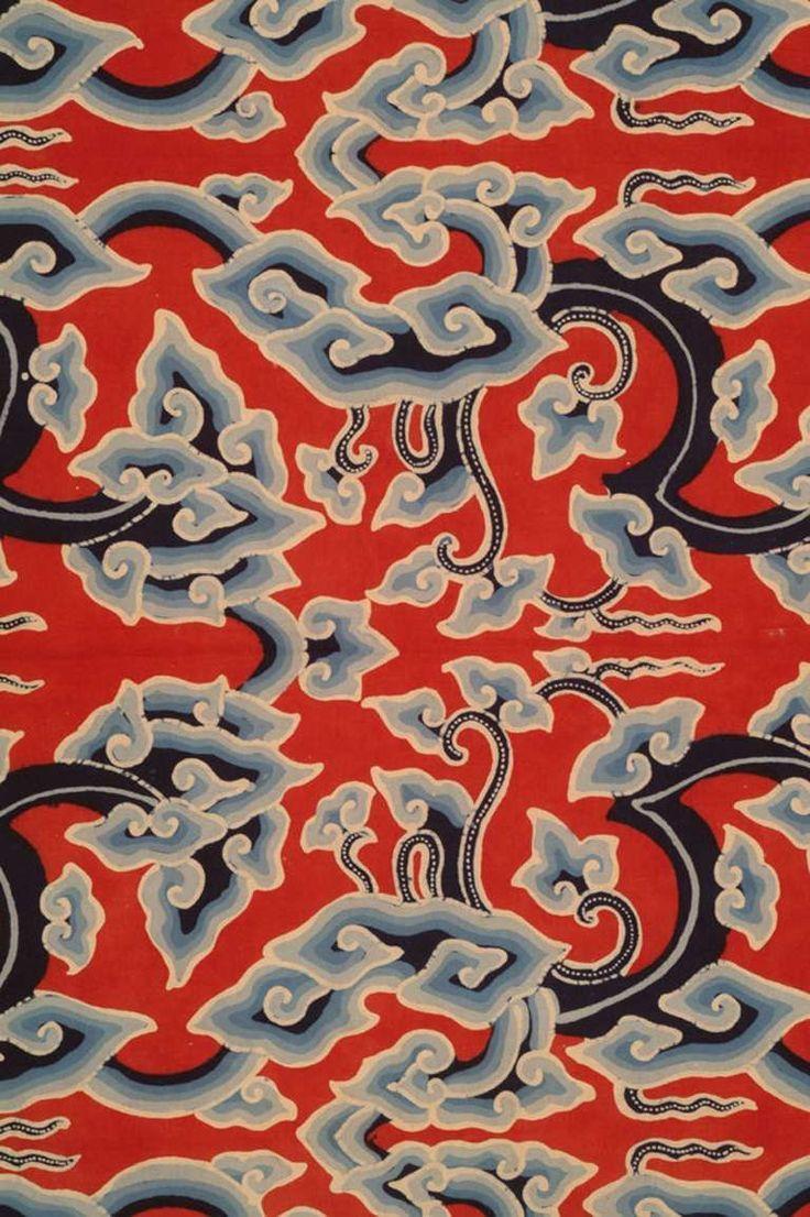 1stdibs | Cirebon Batik - Traditional cloud pattern (Central Java, Indonesia)