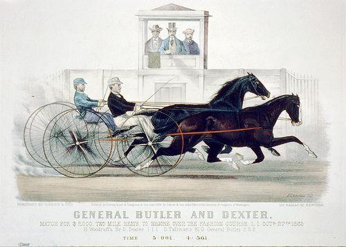 009-Imagen carreras caballos trotones-Library of Congress