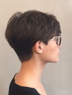 Short pixie cut boy shaved nape neck