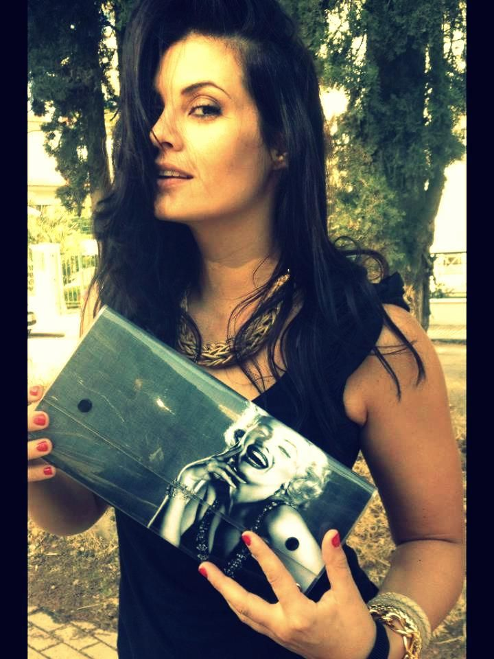 Maria Korinthiou with LovelyHandMade Clutch by Dristela