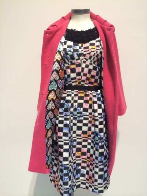 This week's Random Treat at Trelise Cooper Welligton  The Trelise Cooper Tongue in Check dress $749.00 is now $500.00 with the purchase of the Trelise Cooper pink Casting your Coat coat