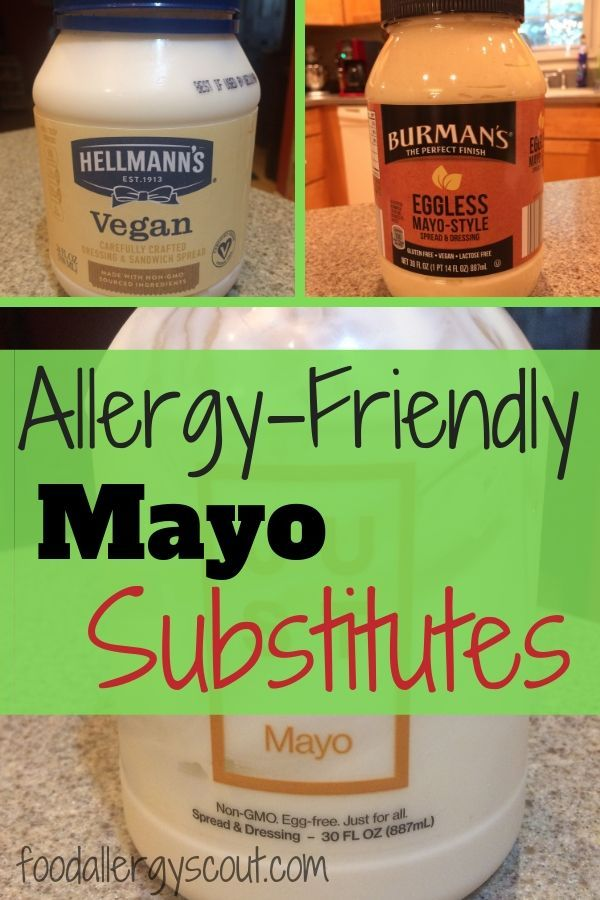 Substituting Mayonnaise For Eggs : substituting, mayonnaise, Allergy-Friendly, Substitutes, Substitute,, Allergy, Friendly,, Allergies