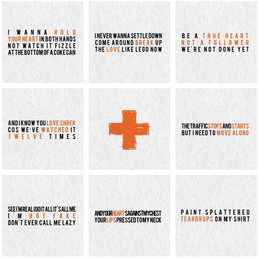 His lyrics. Love the first, seventh, and eighth.<3