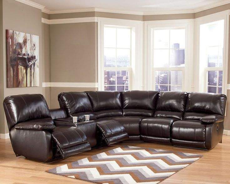 Reclining sectional sofa for your living room : S3NET – Sectional sofas sale #LeatherSectionalSofas