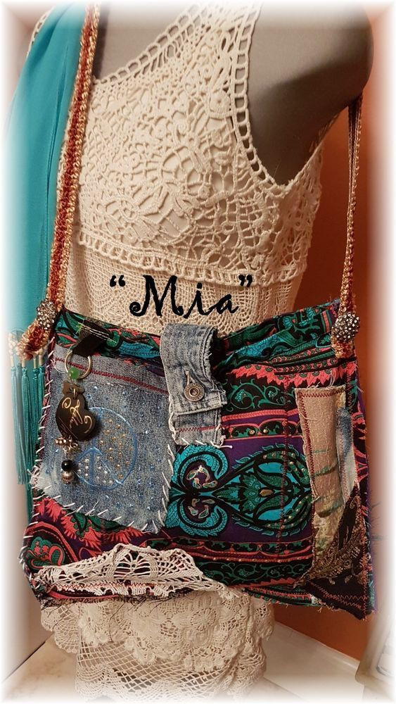 "Hand Made BoHo Bohemian Handbag Original Signed Numbered FAB*BOHO ""MIA"" #003 #FABBOHO #ShoulderBag"