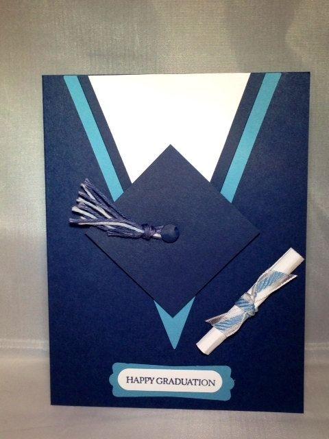Cap & Gown Graduation Cards por DreamiasCreations en Etsy