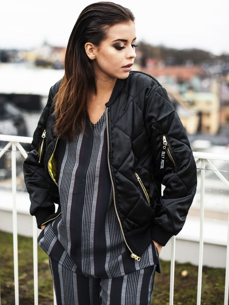 Nicole Falciani in our Bomber Jacket- Bomber Coco