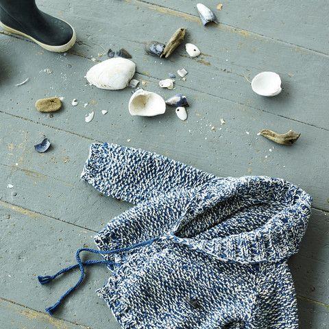 Hand-Knit Cotton Saltwater Jacket - Indigo - 6m-4y