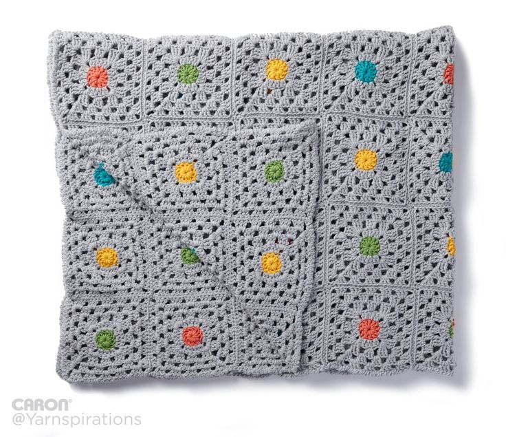 Pin Point Crochet Blanket - Patterns  | Yarnspirations | Free Pattern | Caron One Pound | Gray Matters