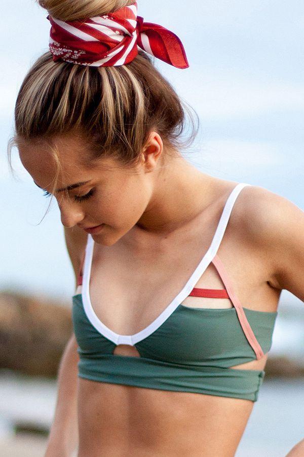 4de76bed0b Tavik Jessi Cutout Bikini Top | Urban Outfitters #greenbikini #sportystyle  #affiliate
