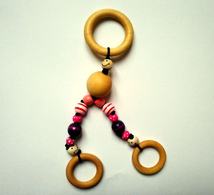 """Hochet Montessori """"Triskell"""", petits anneaux et perles. : Jeux, peluches, doudous par tous-les-matins-du-monde"""