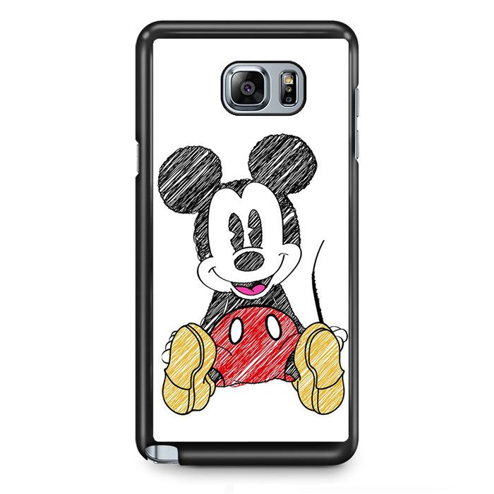 Mickey Mouse Pencil Drawing TATUM-7210 Samsung Phonecase Cover Samsung Galaxy Note 2 Note 3 Note 4 Note 5 Note Edge iPhone X Wallpaper 786933734868943449 7
