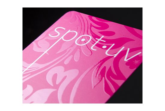 Spot gloss ultraviolet coated business cards
