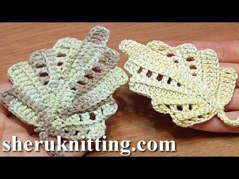 Crochet Leaf Work In Back Loops Tutorial 22 Part 1 of 2 - YouTube