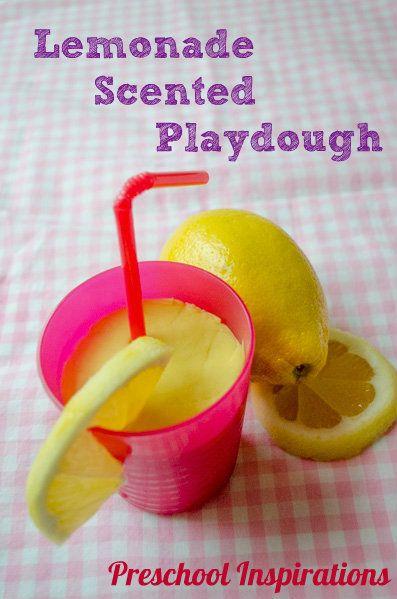 Lemonade Naturally Scented Playdough by Preschool Inspirations-