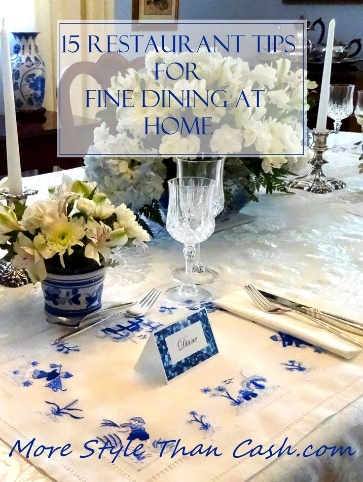 15 Restaurant tricks for fine dining at home. Great ideas on how to make a dinner amazing!