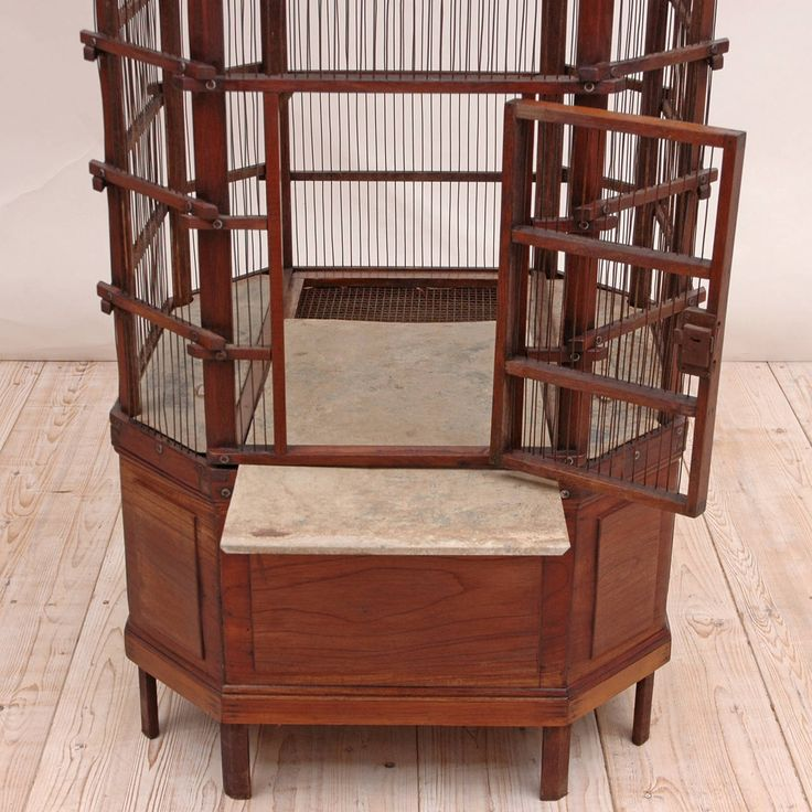 French Belle Epoch Aviary or Bird Cage, circa 1895 | From a unique collection of antique and modern bird cages at https://www.1stdibs.com/furniture/more-furniture-collectibles/bird-cages/