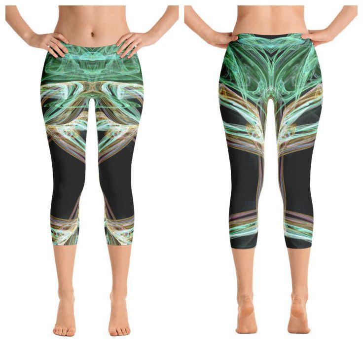 Excited to share the latest addition to my #etsy shop: Green Spark-Capri Leggings, Printful, USA https://etsy.me/2EHsSpa #clothing #women #pants #green #spark #moderncapri #capri #printedpants #freeshipping