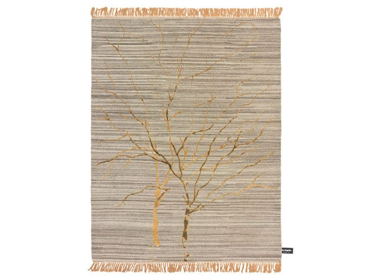 Patterned rectangular rug TRACES DE DOUBLE ARBRE DE VIE by cc-tapis ®