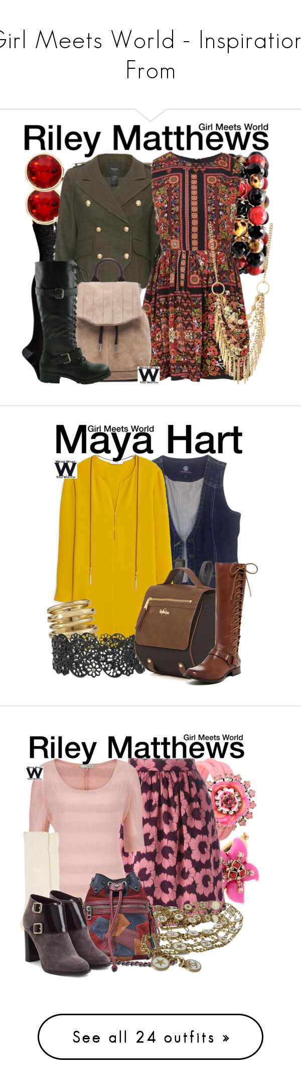 """""""Girl Meets World - Inspirations From"""" by wearwhatyouwatch ❤ liked on Polyvore featuring Smartwool, Liz Claiborne, Smythe, Topshop, rag & bone, Panacea, television, wearwhatyouwatch, Bogner and MANGO"""
